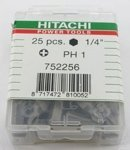"Биты Hitachi PH 1 1/4"" 25 мм (25 шт.) 752256"